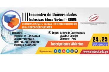 III Encuentro de Universidades Inclusivas Educa Virtual –RUIVE